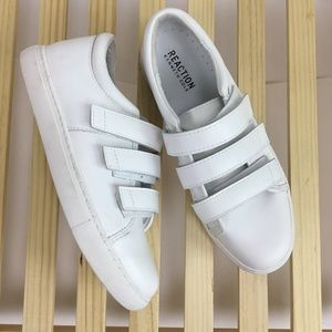 Kenneth Cole REACTION Jovie White Leather Sneakers